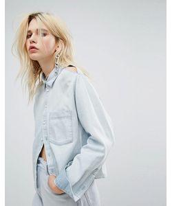 Cheap Monday | Джинсовая Рубашка Свободного Кроя С Разрезами На Плечах