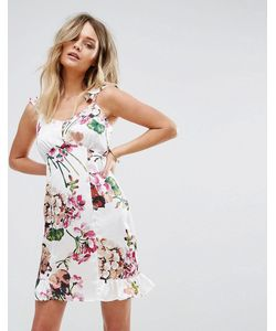 boohoo | Платье На Бретельках С Открытыми Плечами