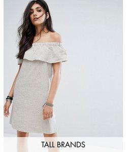 Noisy May Tall | Платье Мини В Полоску С Открытыми Плечами