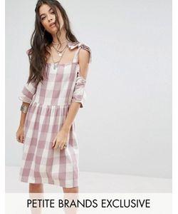 Glamorous Petite | Платье Мини В Клеточку