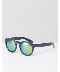 Monki | Солнцезащитные Очки С Синими Затемненными Стеклами