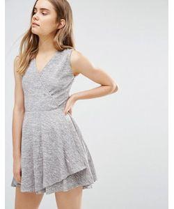 Wal G   Короткое Приталенное Платье С Запахом