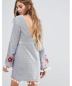 Glamorous | Свободное Платье С Открытой Спиной И Вышивкой