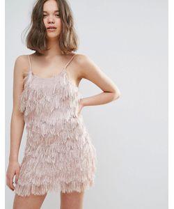 Glamorous | Платье На Бретельках С Бахромой