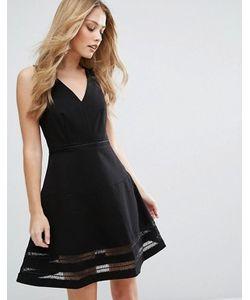 Adelyn Rae | Короткое Приталенное Платье С Прозрачными Вставками