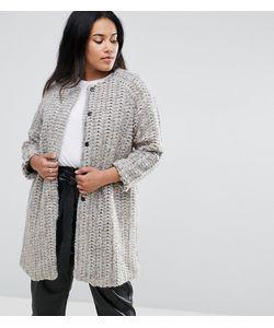 Elvi | Шерстяное Пальто Без Воротника