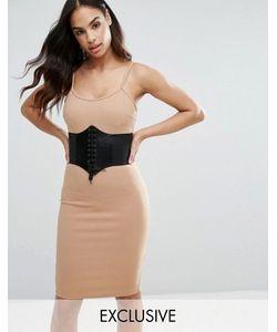 NaaNaa | Платье Миди Со Съемным Поясом-Корсетом