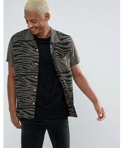 Huf | Рубашка Классического Кроя С Принтом