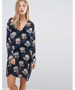 Ganni | Платье С V-Образным Вырезом И Рукавами Летучая Мышь Park Row
