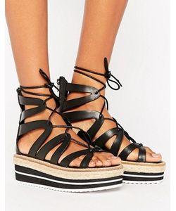 SixtySeven | Tie Up Flatform Sandal