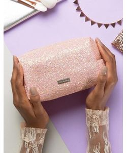 Skinnydip | Peach Glitter Make Up Bag
