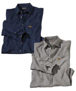 AFM | Комплект Фланелевых Рубашек 2 Шт.Atlas For Men