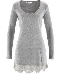 bonprix   Удлиненный Пуловер С Кружевом