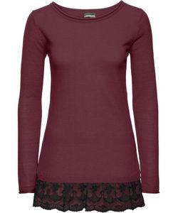 bonprix   Вязаный Пуловер С Кружевом