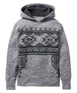 bonprix | Пуловер С Этническим Узором И Капюшоном Размеры 116/122-164/170