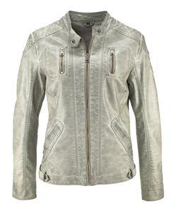 bonprix   Куртка Из Искусственной Кожи В Потертом Дизайне