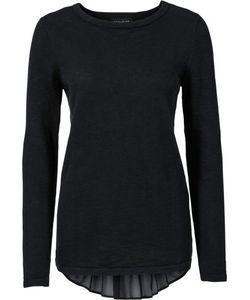 bonprix   Пуловер С Шифоновой Вставкой