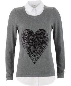 bonprix   Пуловер 2 В 1 С Длинным Рукавом