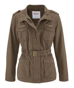 bonprix | Парусиновая Куртка С Поясом В Талии