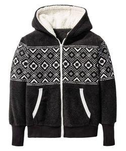 bonprix | Уютная Флисовая Куртка С Плюшевым Капюшоном Размеры 116/122-164/170
