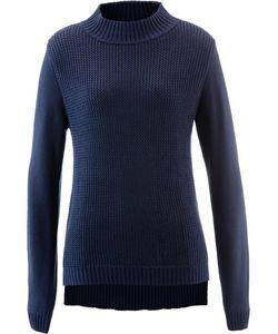 bonprix | Пуловер С Воротником-Стойкой И Структурным Узором