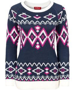 bonprix   Узорчатый Пуловер С Длинным Рукавом