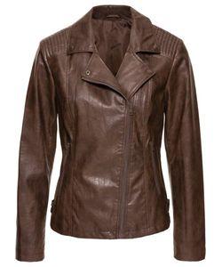 bonprix   Байкерская Куртка Из Искусственной Кожи Линялой Расцветки