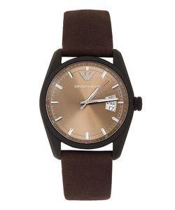 Emporio Armani | Часы С Ремешком Из Натуральной Кожи Коричневого Цвета