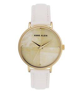 Anne Klein | Часы С Белым Кожаным Ремешком