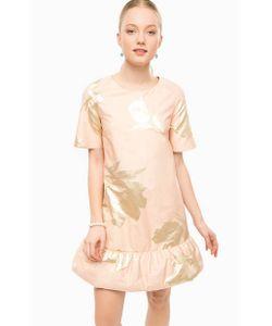 Think Chic | Короткое Платье Кораллового Цвета