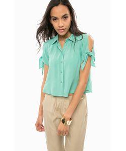 Guess | Укороченная Блуза На Пуговицах