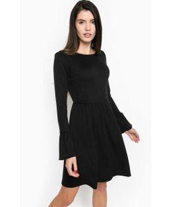 TOM TAILOR | Черное Трикотажное Платье