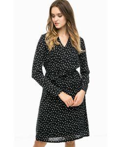 ICHI | Черное Платье Средней Длины С Поясом