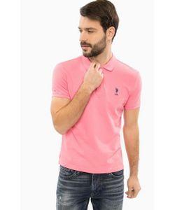 U.S. Polo Assn. | Розовая Хлопковая Футболка Поло