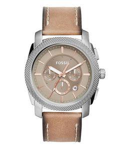 Fossil   Часы С Бежевым Кожаным Ремешком