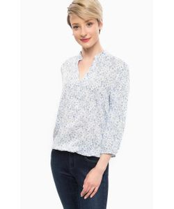 MORE&MORE | Блуза Из Вискозы С Вырезом На Пуговицах