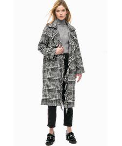Silvian Heach   Демисезонное Пальто С Бахромой