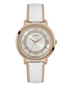 Guess | Часы С Белым Кожаным Ремешком