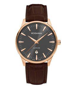 Rodania | Часы С Коричневым Кожаным Ремешком