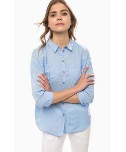 Tom Tailor Denim | Синяя Рубашка Свободного Кроя