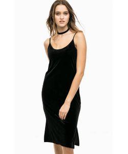 b.young | Черное Бархатное Платье С Разрезами
