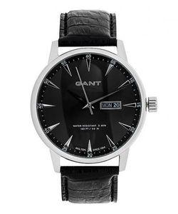Gant | Водостойкие Часы С Черным Кожаным Ремешком