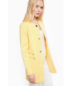 Liu •Jo | Пальто Из Вискозы И Хлопка Желтого Цвета
