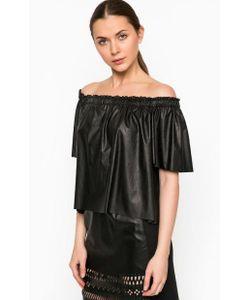 Pinko | Черная Блуза С Открытыми Плечами