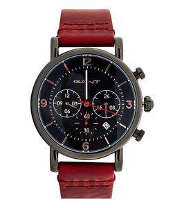 Gant | Часы С Хронографом И Кожаным Ремешком