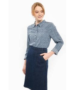 ICHI | Синяя Блуза На Пуговицах