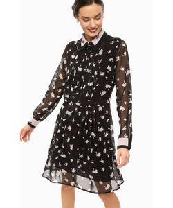 Pois | Приталенное Платье С Вырезом На Пуговицах