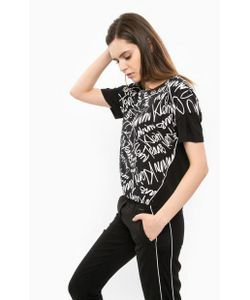Calvin Klein Jeans | Блуза Черного Цвета С Короткими Рукавами