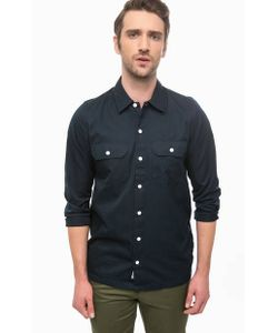 Carhartt WIP | Хлопковая Рубашка Синего Цвета