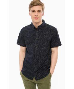 Blend | Хлопковая Рубашка Темно-Синего Цвета С Короткими Рукавами